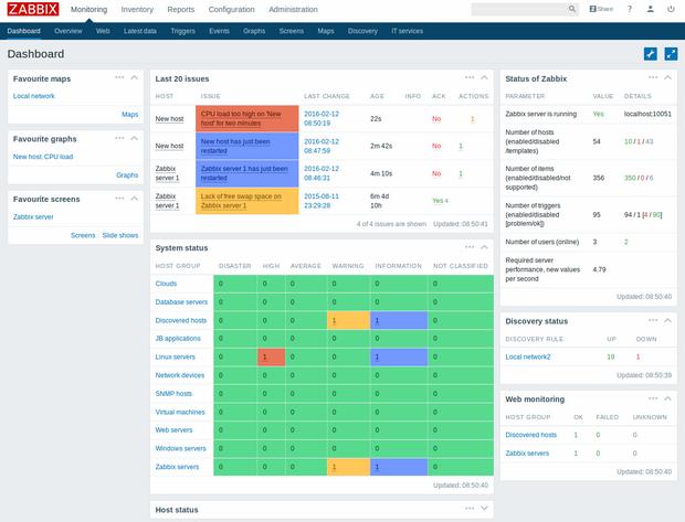 Software-update: Zabbix 3 0 0 - Computer - Downloads - Tweakers