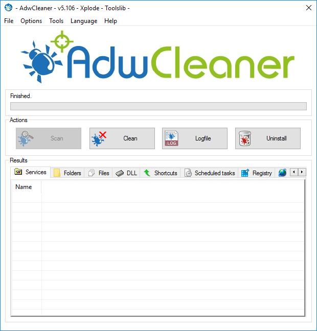 AdwCleaner screenshot