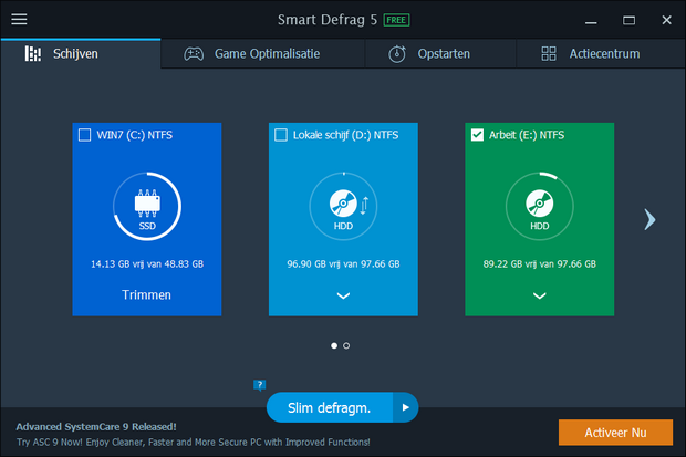 IObit Smart Defrag 5 screenshot (620 pix)