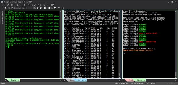 SecureCRT 8 screenshot (620 pix)