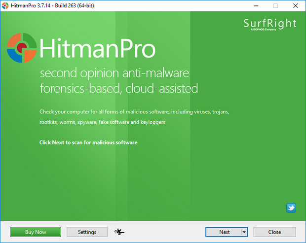 HitmanPro 3.7.14 screenshot (620 pix)