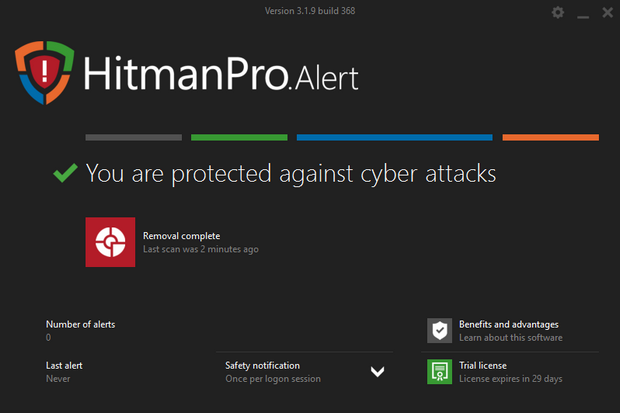 HitmanPro.Alert 3 screenshot (620 pix)