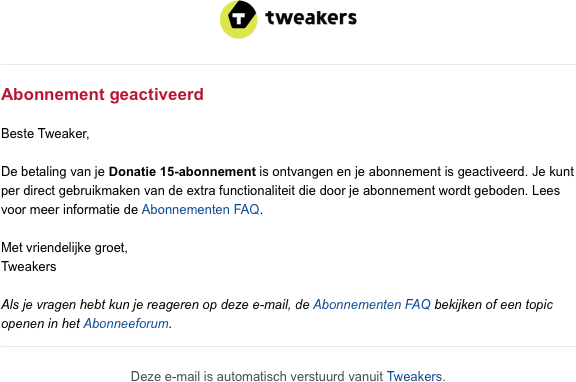 Abo-activatie e-mail