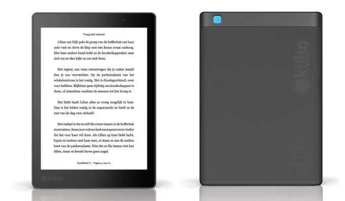 door de hoge resolutie behoudt het zwart witscherm een ppi van 300 wat vergelijkbaar is met andere hd e readers van zowel kobo als amazon