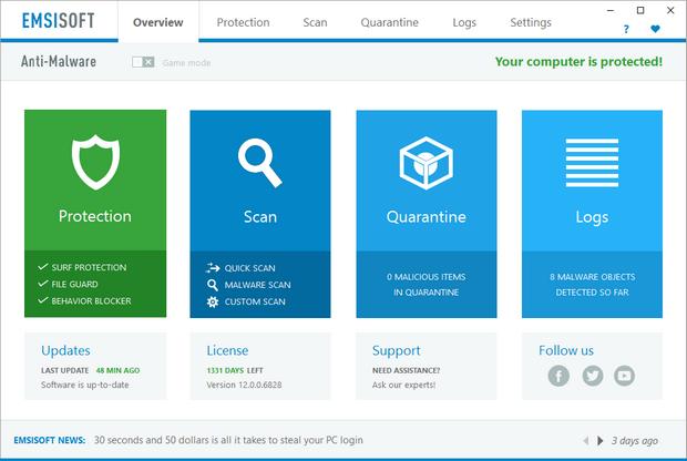 Emsisoft Anti-Malware 12