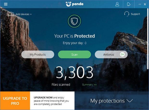 Panda Free Antivirus 18.0 screenshot (620 pix)