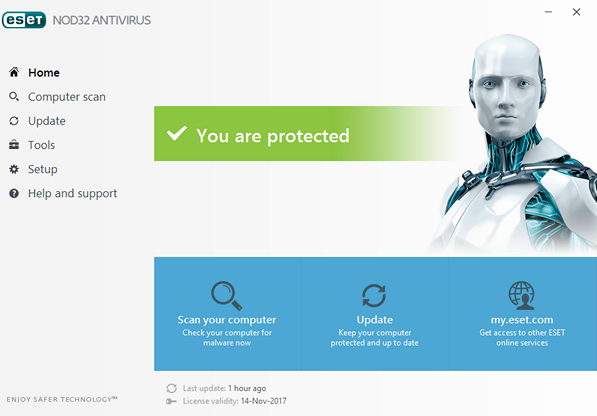NOD32 Antivirus 10.0 screenshot