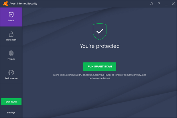 Avast! Antivirus 2017 screenshot (620 pix)