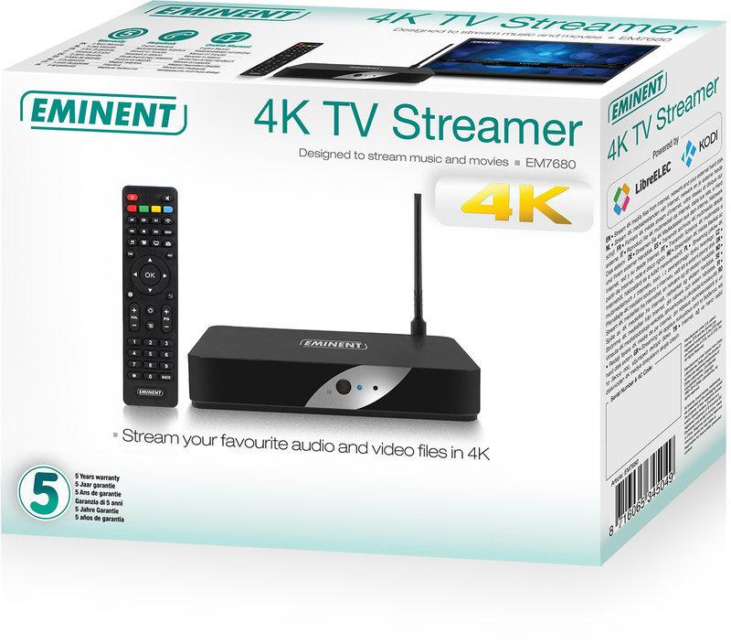 Eminent EM7680 4K TV Streamer powered by LibreELEC Kodi