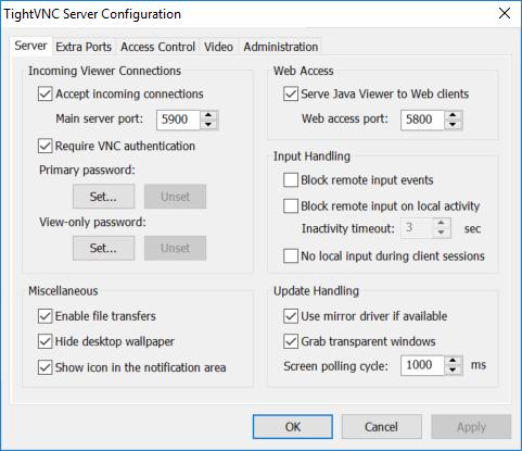 TightVNC 2.8 screenshot