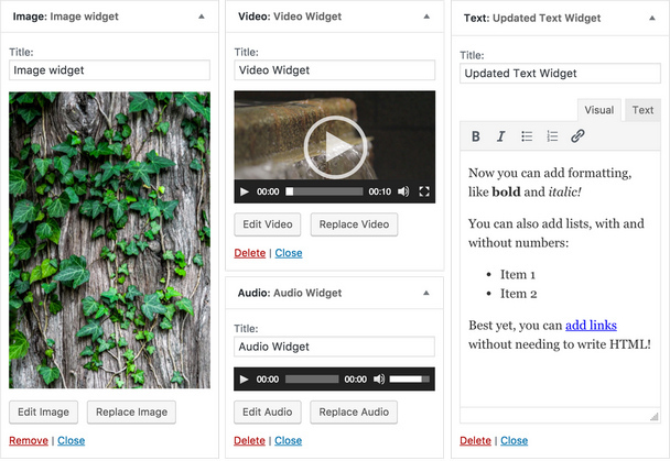 WordPress 4.8 new widgets (620 pix)