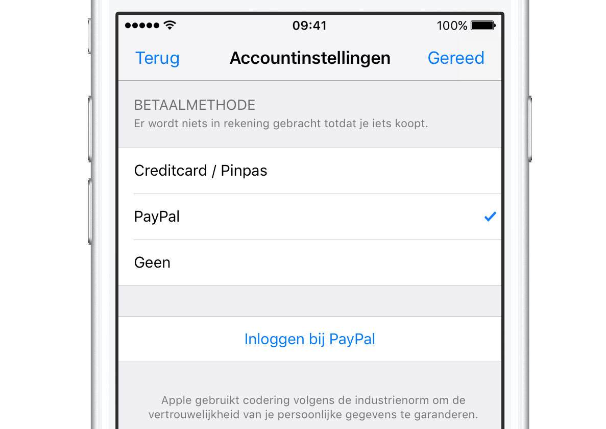how to pay paypal on itunes