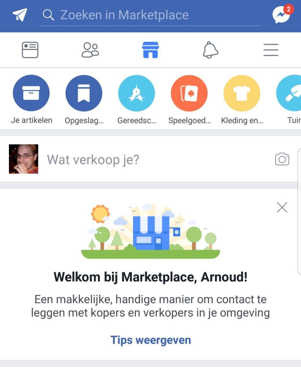 facebook zet marketplace tabblad in mobiele app bij gebruikers in benelux tablets en telefoons. Black Bedroom Furniture Sets. Home Design Ideas