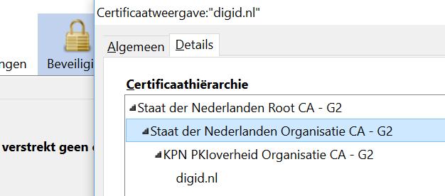 Firefox certifaat