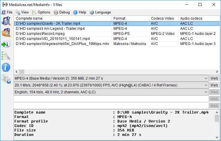 Software-update: MediaInfo 0.7.49 - Computer - Downloads - Tweakers