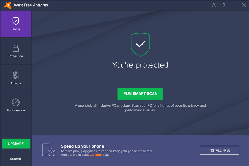 Avast! Antivirus 2017 screenshot (800 pix)