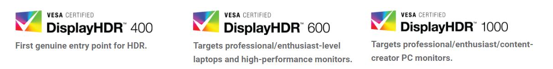 DisplayHDR Vesa
