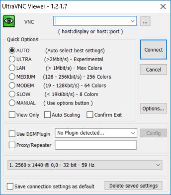 UltraVNC 1.2.1.7 Viewer screenshot