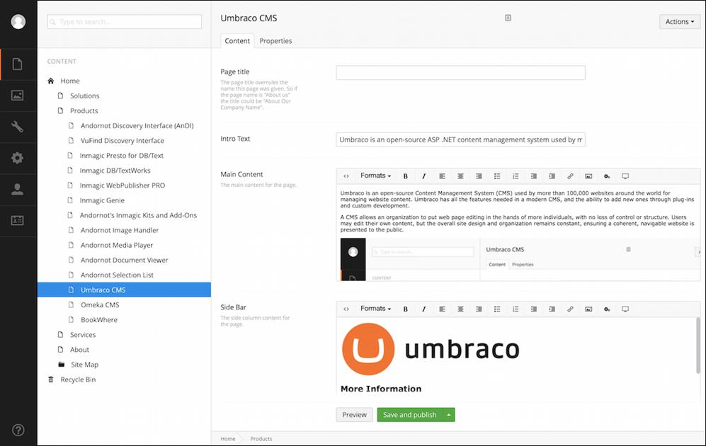 Umbraco screenshot (620 pix)