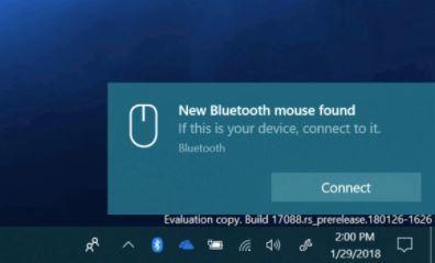 Windows 10 krijgt functie om bluetoothapparaten met enkele
