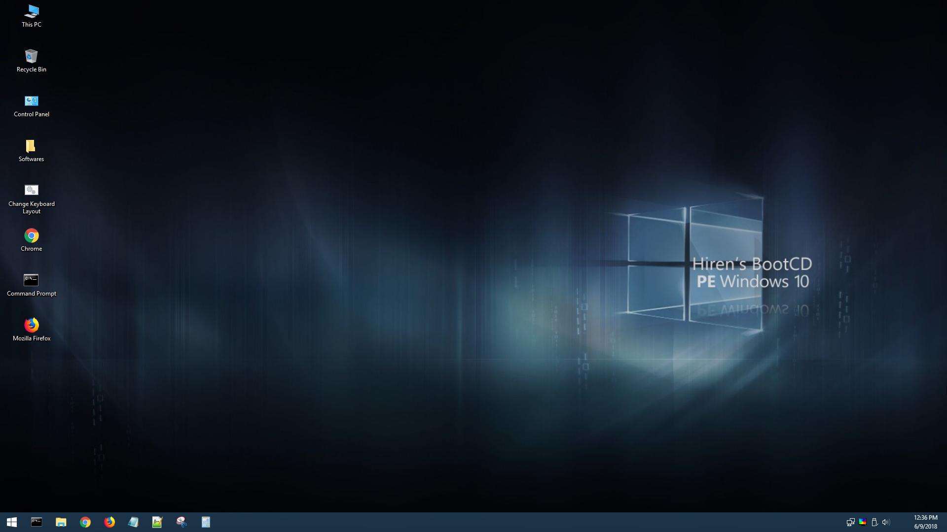 Hiren's BootCD PE screenshot (620 pix)