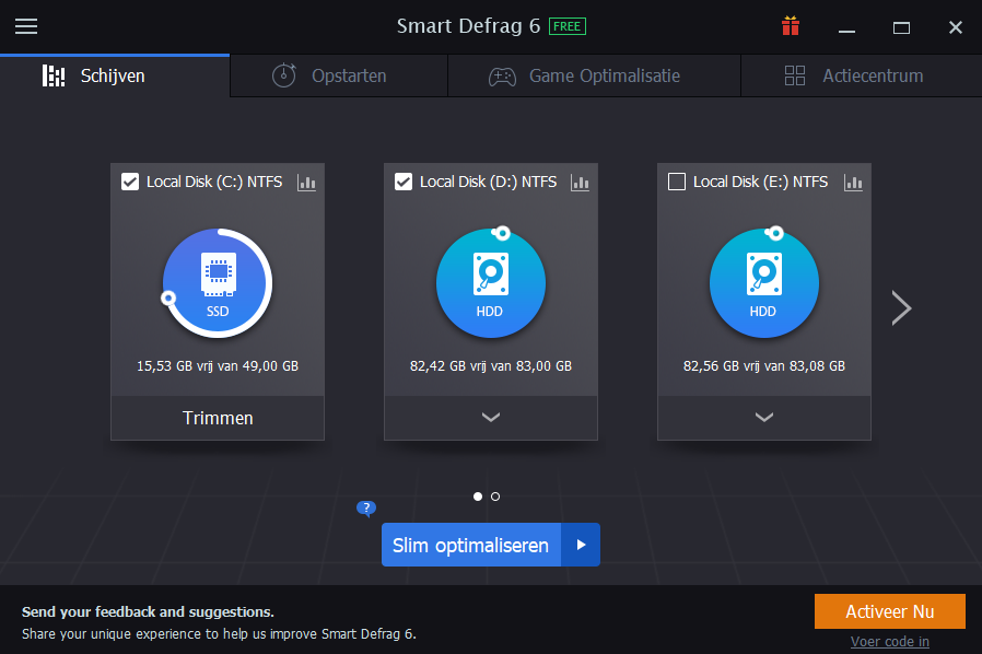 IObit Smart Defrag 6 screenshot (620 pix)