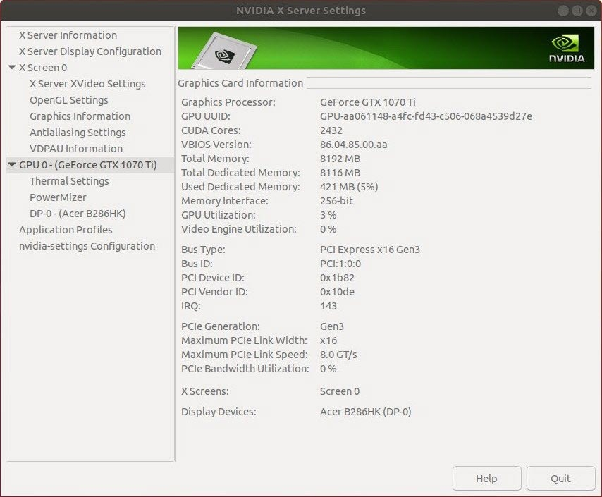 Driver-update: Nvidia Linux Display Driver 390 59 - Computer