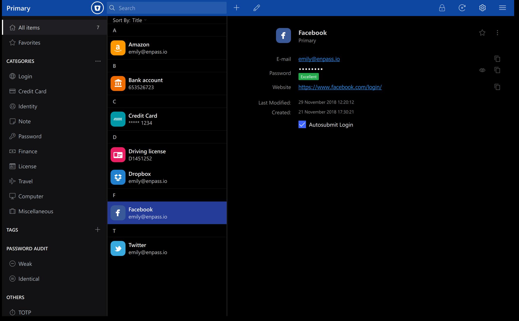Enpass screenshot (620 pix)