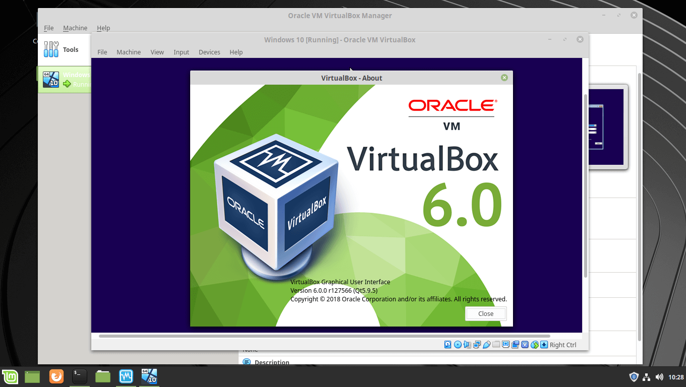 Oracle VirtualBox 6.0