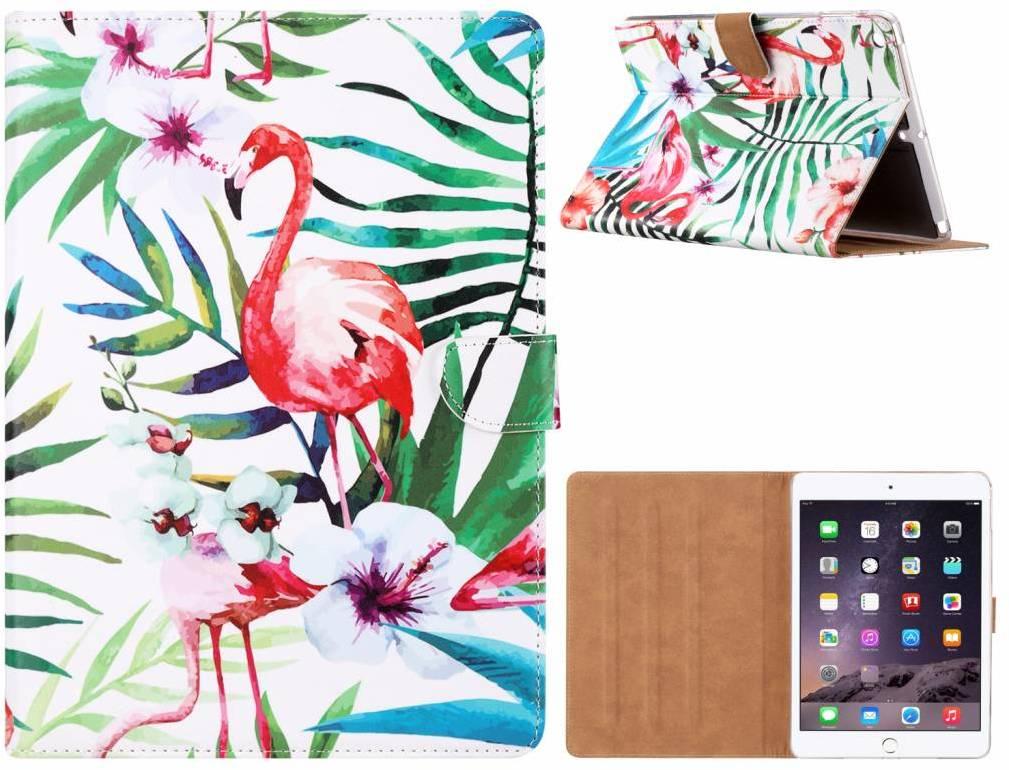 d22d33e3cab Flamingo print lederen standaard hoes voor de Apple iPad Air (9.7 inch) -  Wit - Alternatieven - Tweakers