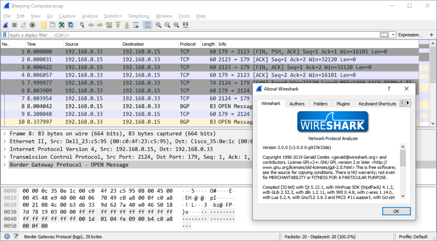 Wireshark 3.0.0