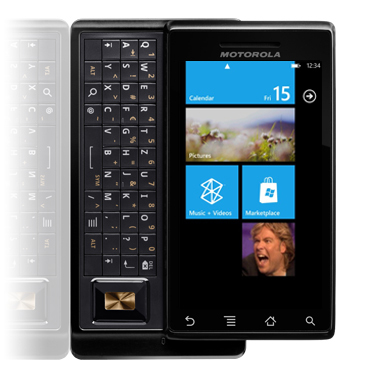 Motorola Droid met Windows Phone 7