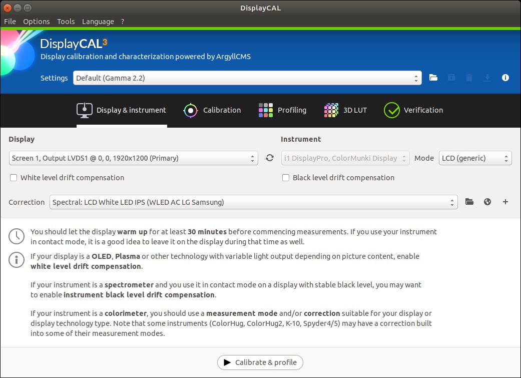 DisplayCAL screenshot