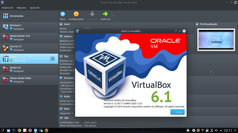 VirtualBox 6.1.0