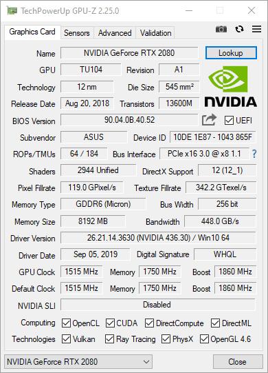 GPU-Z 2.25.0