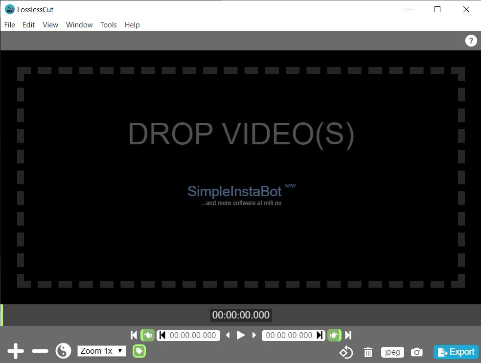 LosslessCut 3.6.0 screenshot (620 pix)