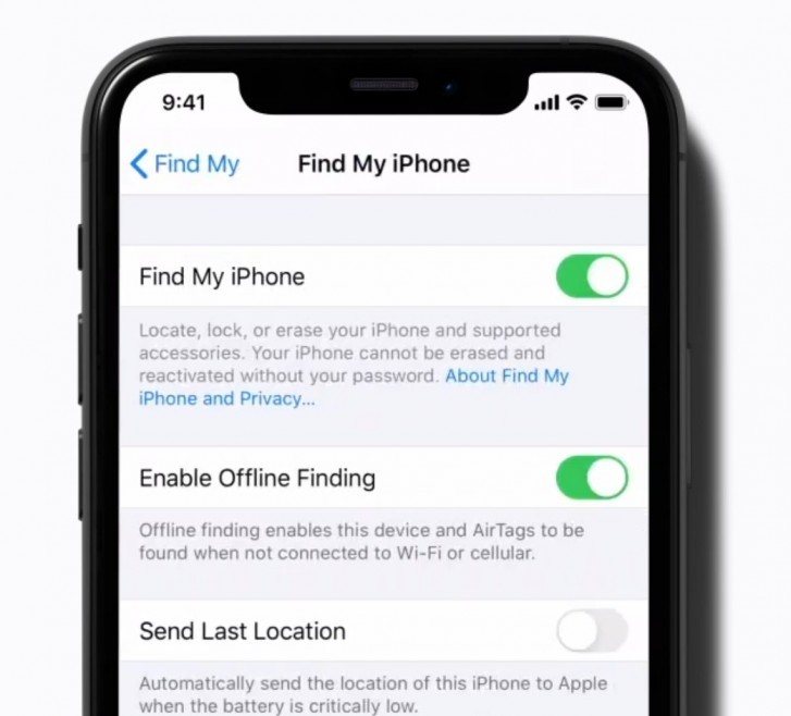 AirTags in iOS