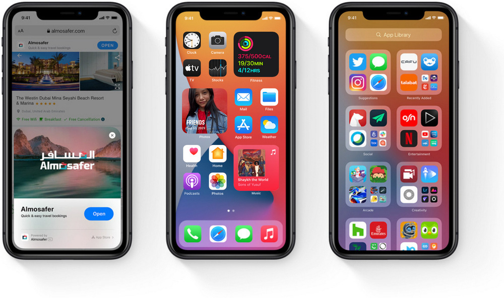 Apple iPhones met iOS 14