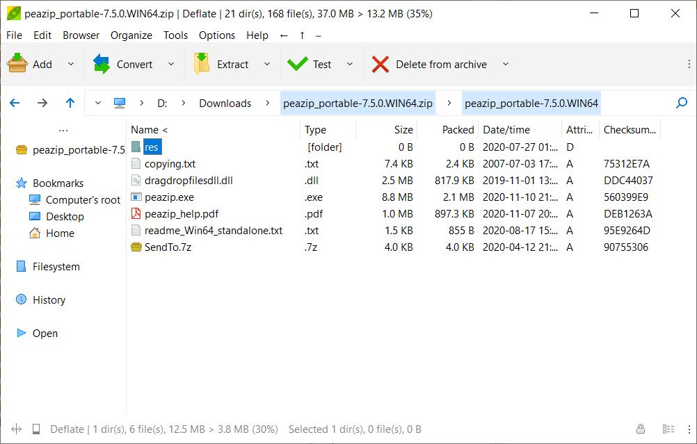 PeaZip 7.5.0