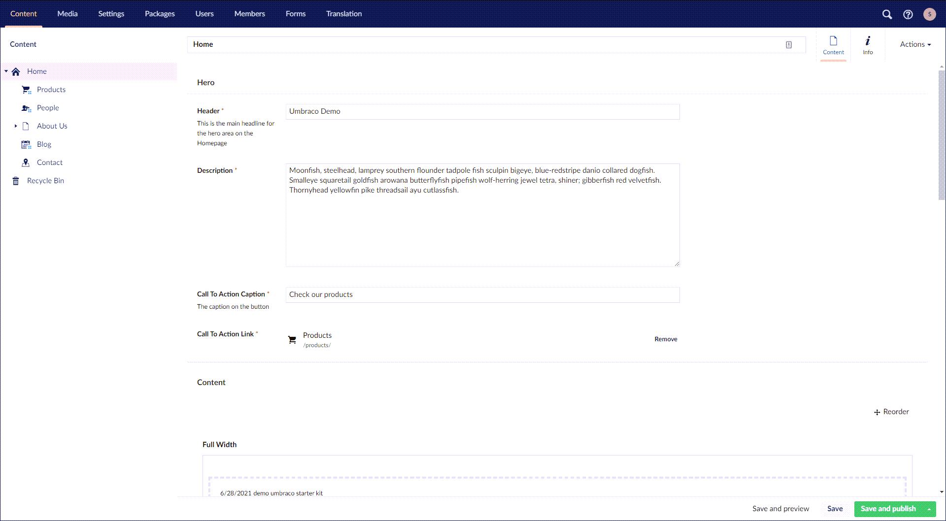 Umbraco CMS screenshot (620 pix)