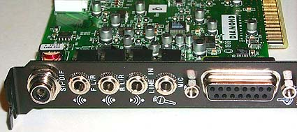 Diamond Monster Sound MX400 outputs