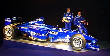 Prost AP03 formule 1 kar met Yahoo banner