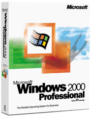 Windows 2000 Professional Edition doos