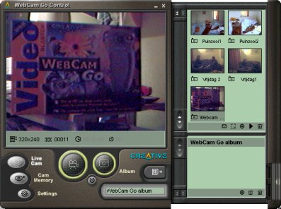 webcam go control screenshot