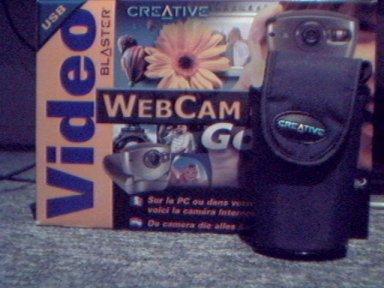 doos en tasje webcam