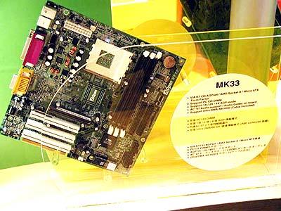 KT133 mobo\'s op Computex: AOpen MK33