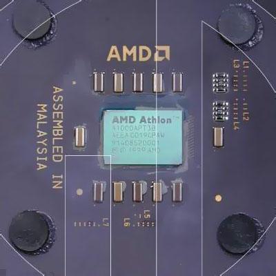 AMD Thunderbird chip oppervlak