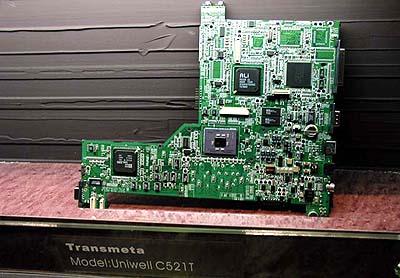 Computex 2000: Transmeta Crusoe moederborden