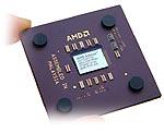 AMD Athlon / Thunderbird + hand (vrij, klein)