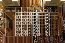 Asus A7V multiplier settings